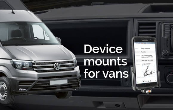 Device holders for vans